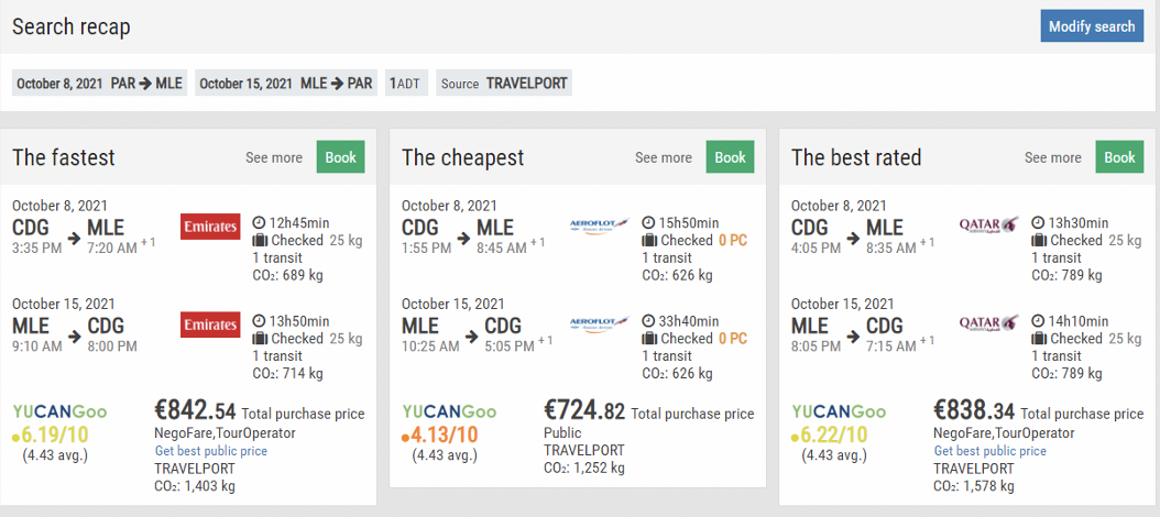 CO2 emissions: a key argument to sell a plane ticket?
